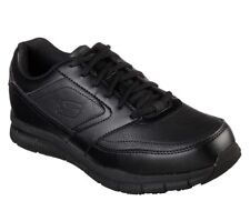 Skechers Work Shoes Wide Fit Black Memory Foam  Men Comfort Slip Resistant 77156