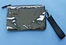 TIBA + MARL ZIPPED METALLIC / MIRROR BABY CLUTCH BAG WITH CLIP ON HANDLE - NEW
