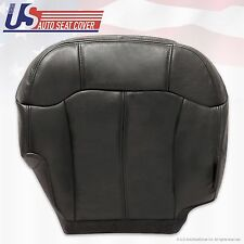 1999 2000 2001 2002 GMC Sierra Passenger Bottom Leather Seat Cover Gray Graphite