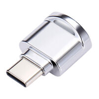Type-C USB 3.1 TF Memory Card Reader OTG Adapter for Micro SD, Silver