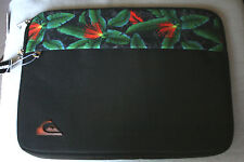 "New Laptop Sleeve Quicksilver Black Tropical 15"" NWT"