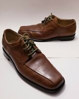 Calvin Klein Horatio Mens Oxford Brown Leather Lace Up Bicycle Toe 8M...FLAW...