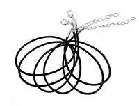 Lot de 5 Cordons Noirs pour Bijoux Pendentif Collier Lacet Simili Cuir Ajustable