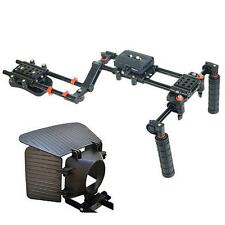 Filmcity FC-10 Shoulder Rig MB-77 Matte Box for DSLR Video Cameras Steady Rig