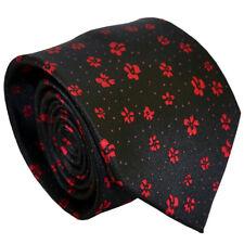 Black Floral Fashion Hommes Cravate Formel Soie Hommes Cravate