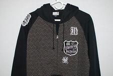 Maverik Lacrosse Mens Hoodie Black Patches Full Zip Tag Size XL X-Large NWOT