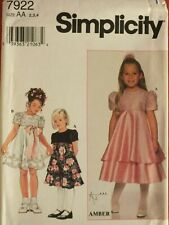 OOP McCALLS 7541 Girls Dress~8 Great Looks PATTERNS 2-3-4//4-5-6//7-8-10-12-14 UC