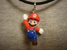 Super Mario Brothers Galaxy Mario Figure Charm Necklace Cute Kawaii Cool Jewelry