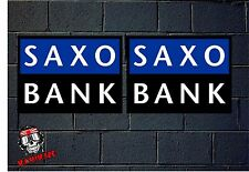 PEGATINA STICKER  ADESIVI AUFKLEBER DECAL 2 X  SAXO BANK  BIKE