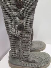 Original UGG Australia Classic Crochet Tall Boots UK 5.5 Euro 38.5 in grau