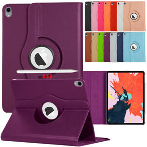 For iPad Air 1 2 3 4 9.7 10.5 10.9 Leather 360 Rotating Flip Stand Case Cover