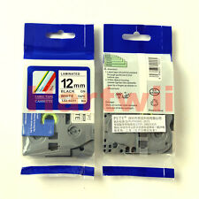 Brother TZ-S231 P-Touch  Compatible Sticky Black on white Label Tape 12mm 8m