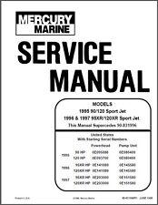 Mercury 90 / 120 / 95XR / 120XR Sport Jet Drive Service Repair Manual CD