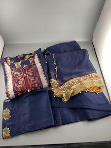 Ethnic Inspired 3 Piece Lawn Suit Shalwar Kameez Sale