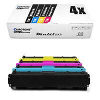 4x Eurotone ECO Patrone für HP Color LaserJet Pro CM-1415-fn CP-1525-n