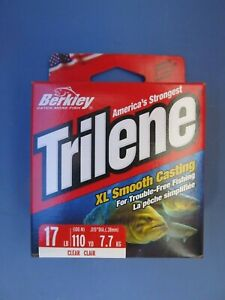 2 spools of Berkley XLPS17-15 17Lb Trilene XL Monofilament Line 110 Yds Clear