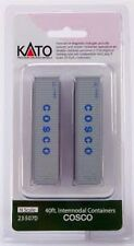 Kato 23-507D N Scale 40' Corrugated Container, COSCO (2-pack)