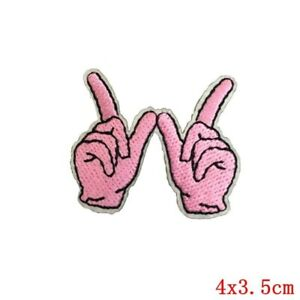 love Sexy Hand Patch Sticker Iron on Clothes DIY Handsome Heat Transfer Applique