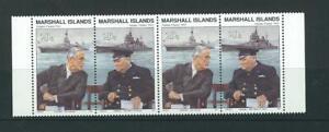 Marshall Islands SC # 284a Atalantic Charter 1941. Roosevelt, Churchill .MNH