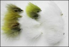 Cats Whisker & Dawsons Olive Trout Fishing Flies, 12 Pack Mixed Patterns & Size