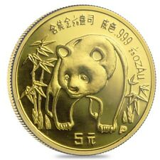 Chinese 1/20 oz Gold Panda Proof/Unc (Random Year, Not Sealed)