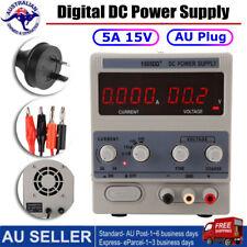 15V 5A Adjustable Variable Regulated Digital DC Power Supply Precision AU Plug