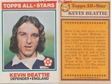 138 KEVIN BEATTIE # ENGLAND ALL STARS CARD PREMIER LEAGUE TOPPS 1978