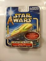 STAR WARS ATTACK OF THE CLONES 'ANAKIN'S SPEEDER' LIGHT/SOUND WORKS 2002. MINT