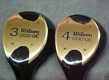 Left Hand LH Wilson 1200 GE Golf Clubs Set Refurbished Black 3 4 Woods New Grips