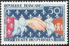 France 1959 Treaty of Pyrenees/Clasped Hands/People/History/Heritage 1v (n44208)