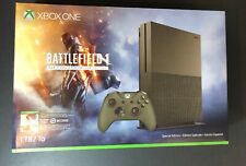 XBOX ONE S 1TB Military Green Battlefield 1 Special Edition NEW