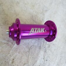 ATAK FRONT HUB PURPLE MOUNTAIN BIKE BICYCLE VINTAGE 32 HOLE