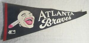 Vintage ATLANTA BRAVES Baseball Pennant -- IROQUOIS Indian Brave Logo, 1970's