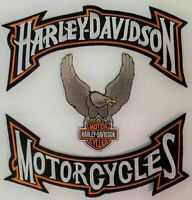 HARLEY CLASSIC ROCKER Eagle Wing Motorcycle Jacket Vest BACK PATCH large IRON ON