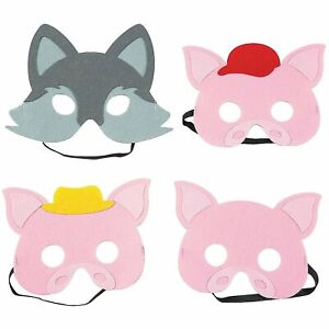 The Three Little Pigs Story Masks in Felt