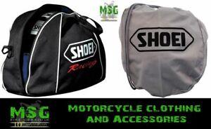 Genuine Motorcycle Shoei Fleece Lined Helmet Racing Bag or Cloth Helmet Bag