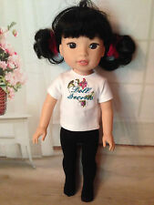 """BLACK Tights for 14"""" American Girl Wellie Wishers Doll"""