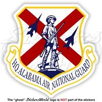ALABAMA AIR NATIONAL GUARD Shield, Emblem US AirForce USAF AL-ANG Sticker, Decal