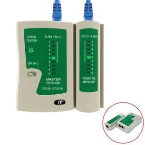 Network Cable Tester RJ45 RJ11 RJ12 CAT5/6 UTP LAN Cable Tester Detector Remote