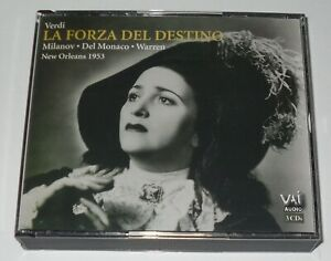 EX:VERDI / LA FORZA DEL DESTINO - NEW ORLEANS 1953 - 3 CD SET - FREE P&P UK