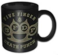 FIVE FINGER DEATH PUNCH - LOGO MUG - BRAND NEW 11 OUNCES COFFEE MUSIC FFDPMUG01