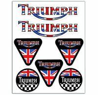 7 Vinile Adesivi Triumph Speed Bandiera UK Vinyl Stickers Auto Moto Casco Bici