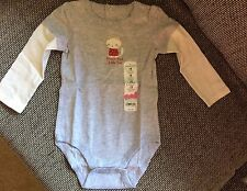 Jumping Beans Girls Toddler 18 Months 18M Long Sleeve Bodysuit NWT Cat Sister