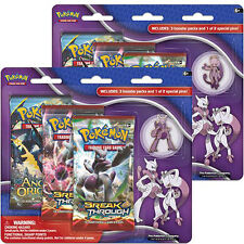 Pokemon Mega Evolution 3-Pack Blister Pack Set of 2 Mega Mewtwo X Y pins SEALED!