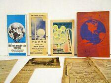World's Fair Paper Memorabilia 1939 & 1964 New York City