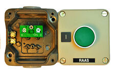 RC-1M102 - METAL CONTROL STATION WITH GREEN 1 FLUSH PUSH BUTTON. N-O CONTACT