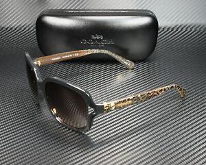 COACH HC8169 535313 Black Wild Beast Brown Gradient 57 mm Women's Sunglasses
