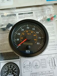NEW VDO COCKPIT SPEEDOMETER 85 MPH 100mm 12-24V 437-015-023X SPARTAN 0833-NN1