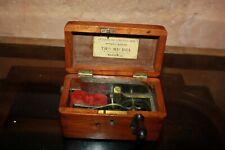 Ancienne XIX boite faradique Quack outil scientifique medecine electro aimant