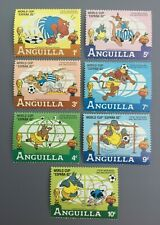 WAYNE'S UNUSED ANGUILLA STAMPS WORLD CUP '82 FROM BEDKNOBS AND BROOMSTICKS (7)